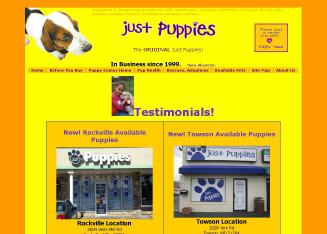 Just+Puppies Website