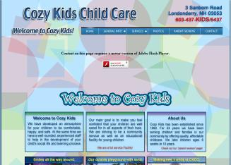 Cozy+Kids+Child+Care Website
