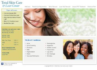 Total+Skin+Care+%26+Laser+Clinic Website