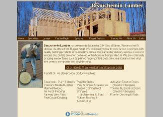 Beauchemin+Lumber Website