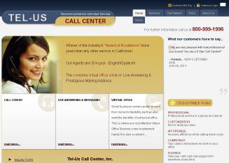 Tel+Us+Call+Center Website