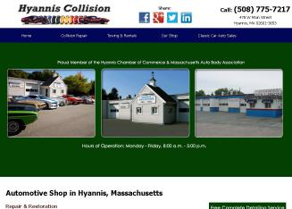 Hyannis+Collision Website