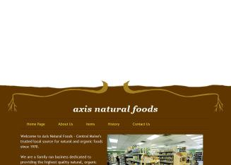 Axis+Natural+Foods Website