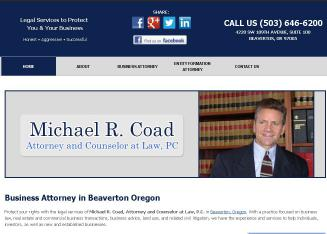 Coad+Michael+R.+Attorney+at+Law Website