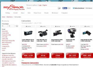 mySimon Website