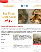 Pet+Food+Warehouse Website