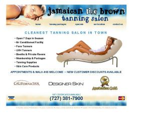 Jamaican+ME+Brown+Tanning+Salon Website