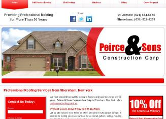 Peirce+%26+Sons+Roofing+Co Website