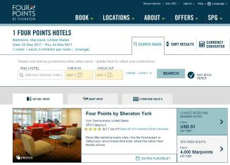 Four+Points+Sheraton+BWI+Airport Website