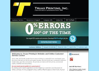Truax+Printing+Inc Website