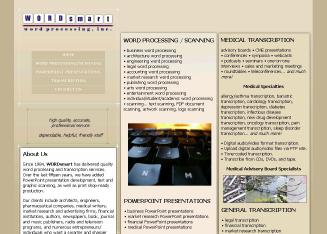 WORDsmart+Word+Processing+Inc. Website