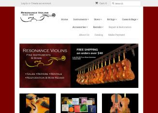 Resonance+Violins Website