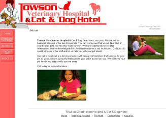 Towson+Veterinary+Hospital Website