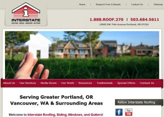 Interstate+Roofing+INC Website
