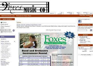 Foxes+Music+Company Website