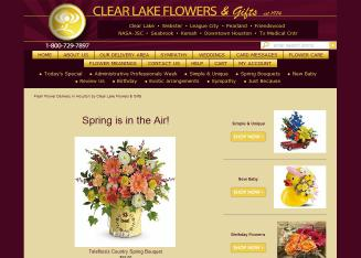 Clear+Lake+Flowers Website