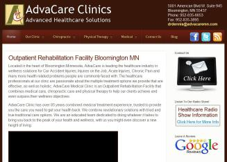 AdvaCare+Clinics Website