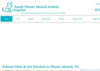 South+Flower+Mound+Animal+Hospital Website