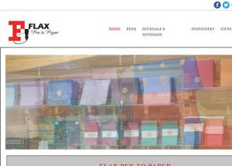 Flax+Pen+To+Paper Website