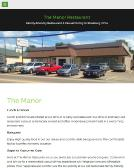 Manor+Restaurant Website
