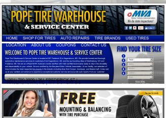 Pope+Tire+Warehouse Website