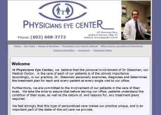Physicians+Eye+Center+-+Roland+M+Glassman+MD Website