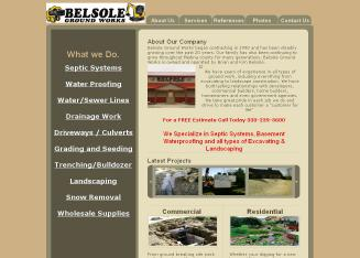 Belsole%27s+Ground+Works+Inc. Website