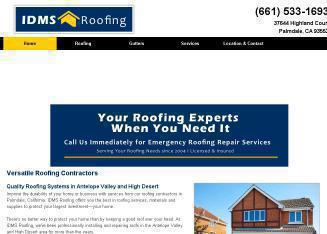 IDMS+Roofing Website