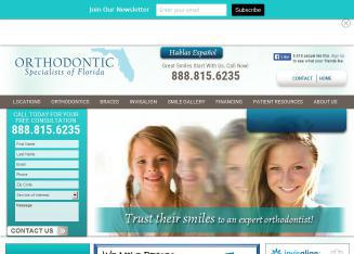 Orthodontic+Specialists+of+Florida Website