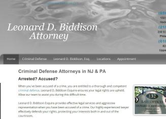 Leonard+D.+Biddison+Attorney Website