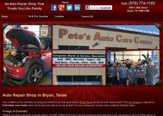 Pete%27s+Auto+Care+Center Website