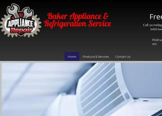 Baker+Appliance+%26+Refrigeration+Service Website