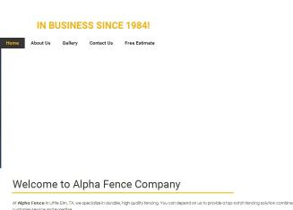 Alpha+Fence+Company Website