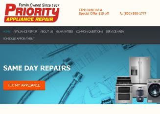 Priority+Appliance+Repair Website