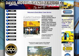Davis motor cranes services inc in irving tx 1222 n for Davis motor crane service irving tx