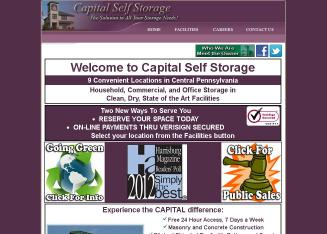 Capital+Self+Storage Website
