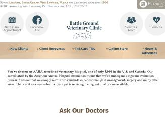 Battle+Ground+Veterinary+Clinic Website