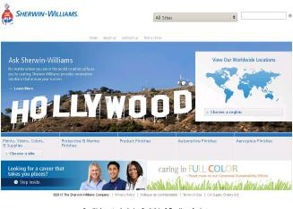 Sherwin-Williams+Company Website