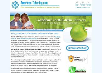 American+Tutoring.com+-+In-Home+Tutors Website