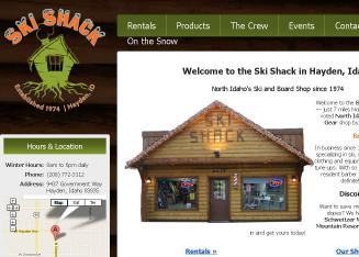 Ski+Shack Website