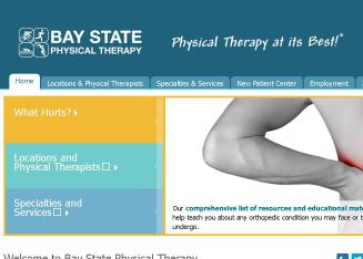 Baystate+Physical+Therapy Website