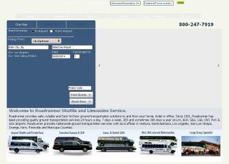 Roadrunner+Shuttle+%26+Limousine+Service Website