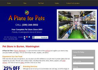 A+Place+for+Pets+Inc Website
