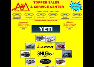 A+%26+A+Topper+Sales+%26+Service+Center Website