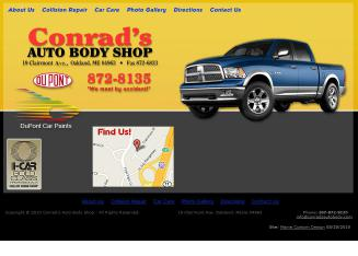Conrad%27s+Auto+Body Website