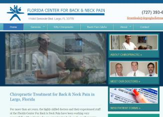 Florida+Center+for+Back+%26+Neck+Pain Website