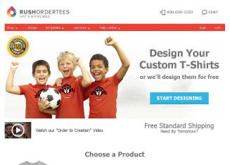 Rushordertees.com Website