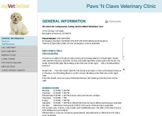 Paws+%27n+Claws Website