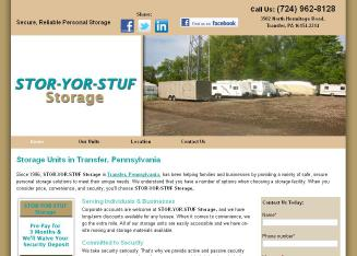 Stor+Yor+Stuf+Storage Website