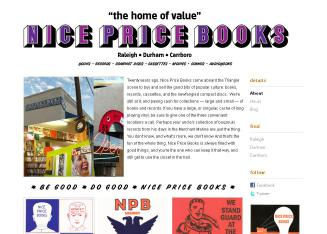 Nice+Price+Books Website